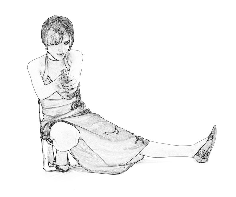 ada wong coloring pages - photo#10
