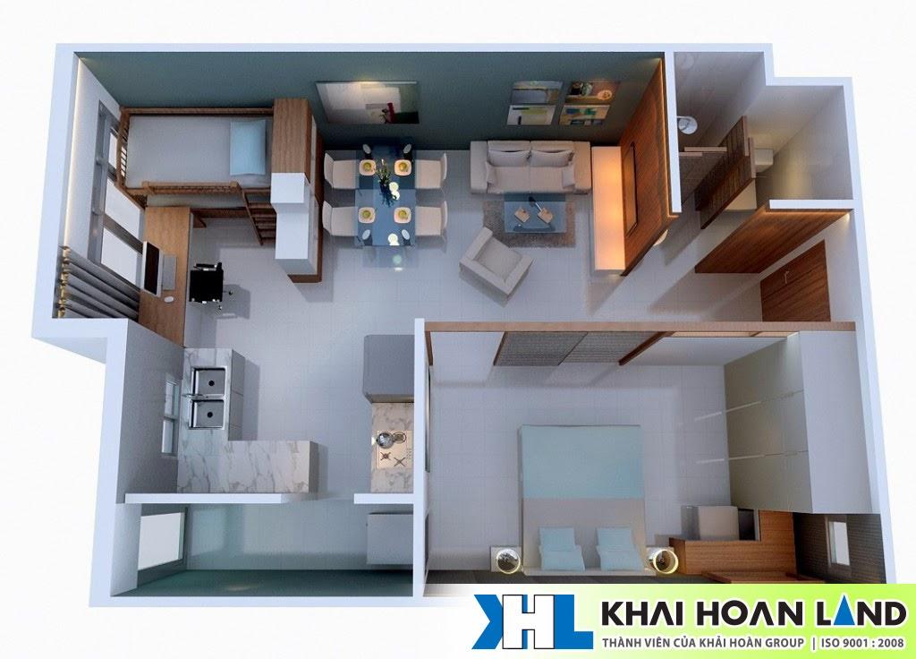 Hình ảnh nội thất căn hộ Ehome 5 -  51m2