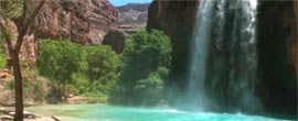 Cascate dell'Havasu in Arizona