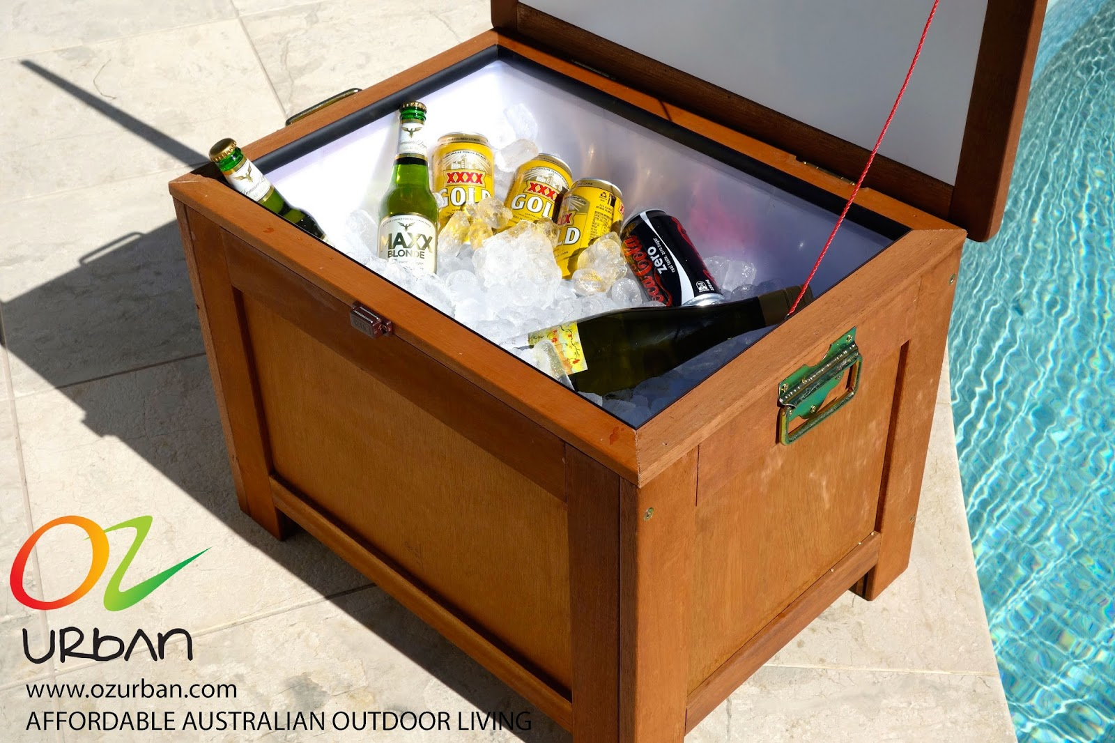 Table Drinks Cooler Where To Buy Your Outdoor Timber Esky Cooler Box Ozurban