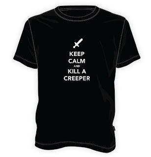 Koszulka Minecraft - Keep calm and kill a Creeper