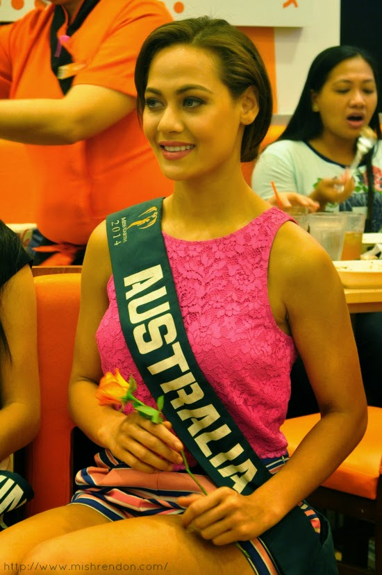 Lunch with Ms. Earth 2014 candidates at Yoshinoya