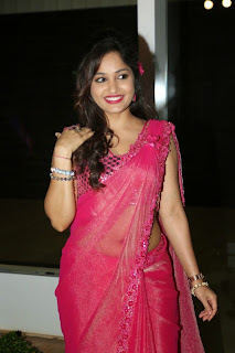 Actress Madhavi Latha Pictures in Pink Saree at Mosagallaku Mosagadu Audio Release Function  16.JPG