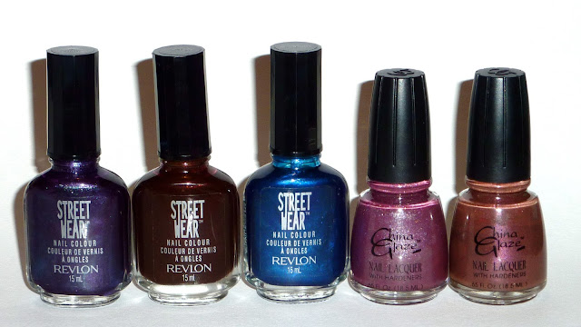 Street Wear - Grape Chaos, Blood, Midnight, China Glaze - Just Hue And Me, Hue Thrill Me