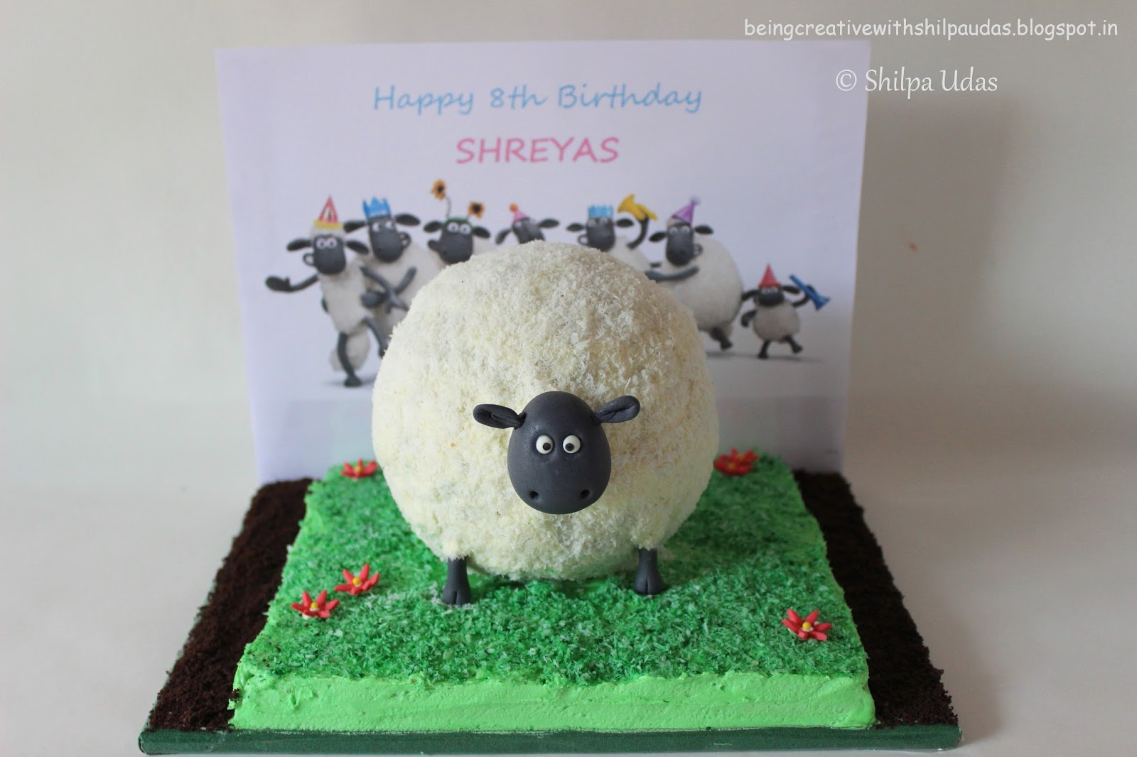 Being Creative With Shilpa Udas November - Sheep cakes birthday