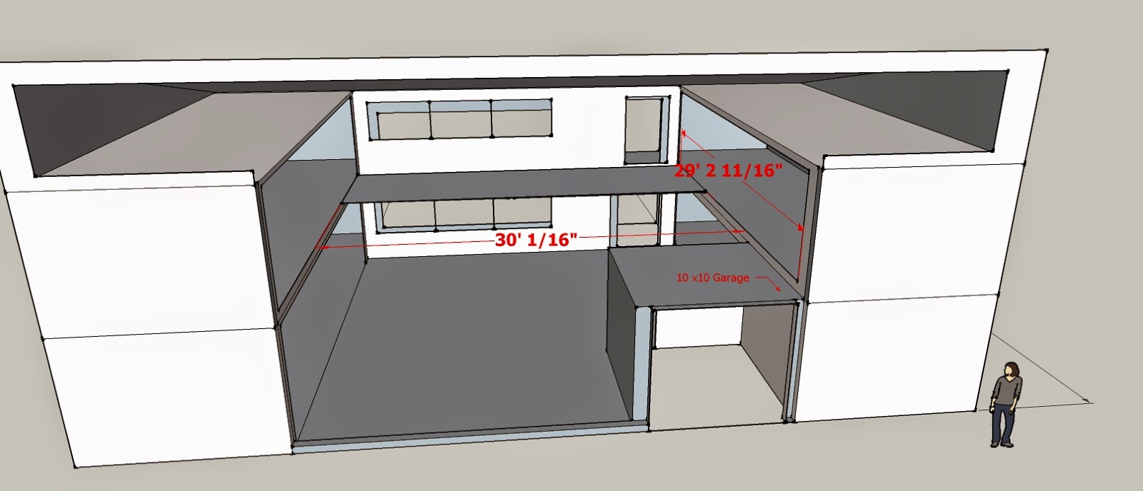 Design by Scott Net Zero 5 Container Open Floor Plan Shipping Container Layout