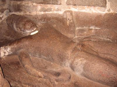 Reclined Vishnu Idol, Mahabalipuram