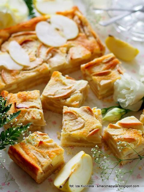 jabłecznik śmietankowy , jablka zapiekane pod śmietanką , ciasto , deser , moje wypieki , najlepsze przepisy , najsmaczniejsze dania , kuchnia domowa , smacznie i tanio , smaczna pyza