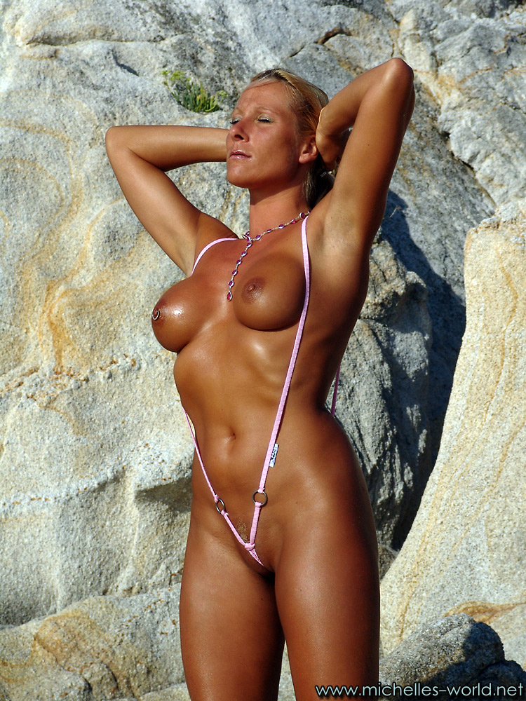 Mature in swimsuit nude