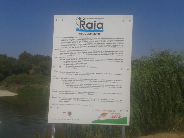 Regulamento Pesca desportiva no Rio Raia