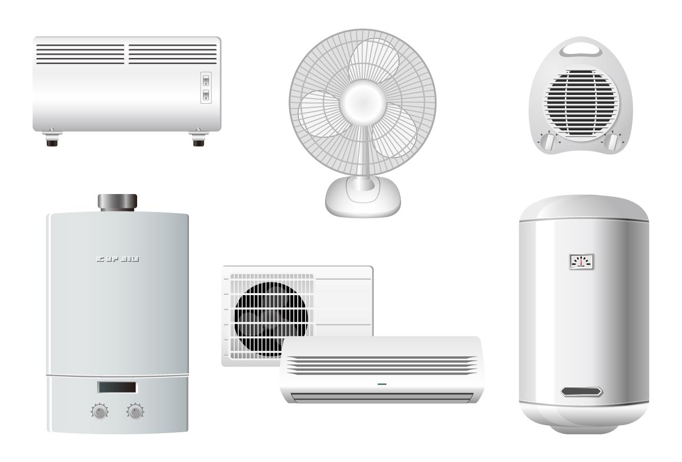 白物家電のクリップアート household appliances icons イラスト素材2
