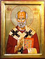 Sfantul Ierarh Nicolae, icoana pictata pe lemn