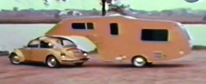 I Donu0027t Remember If I Posted About This 5th Wheel Trailer For Small  European Cars, Like The VW Beetle