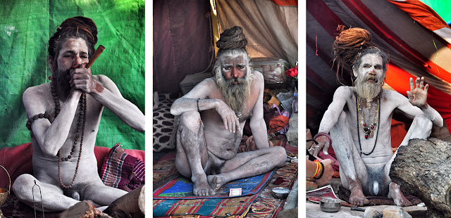 Naga baba naked sadhu indian india male man kumbh mela allahabad