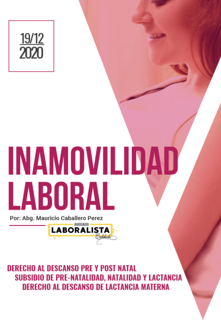 INAMOVILIDAD LABORAL DE LA MUJER EMBARAZADA