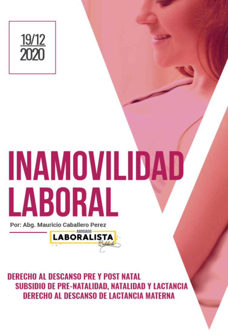 INAMOVILIDAD LABORAL DE LA MUJER EMBARAZADA