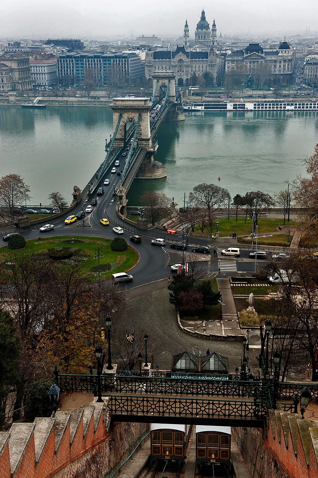 Budapest, Chain Bridge, Danube, Funicular, St. Stephen's Basilica