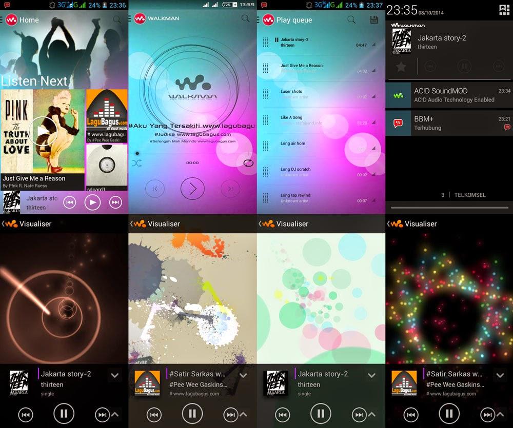Sony Xperia Z Walkman Apk | Jadikan Pemutar Musik Andalan Mu!