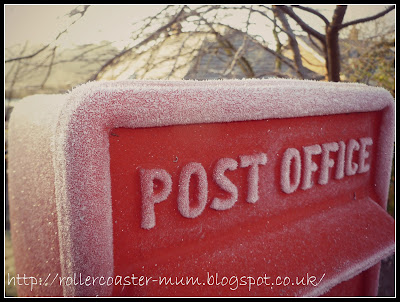 post box in winter
