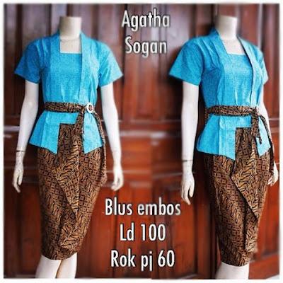 Kebaya Batik Sogan Agatha Db-5305