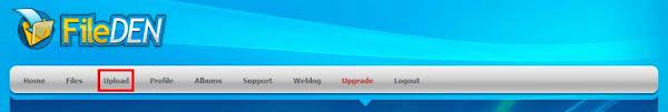 Загрузка файлов на сервис Fileden.com