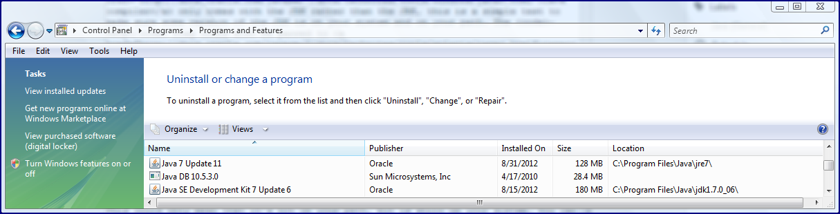 how to change the java exe path in sql developer