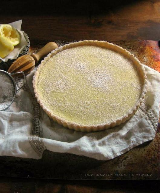 lemon tart with lemon-vanilla sablé / une gamine dans la cuisine