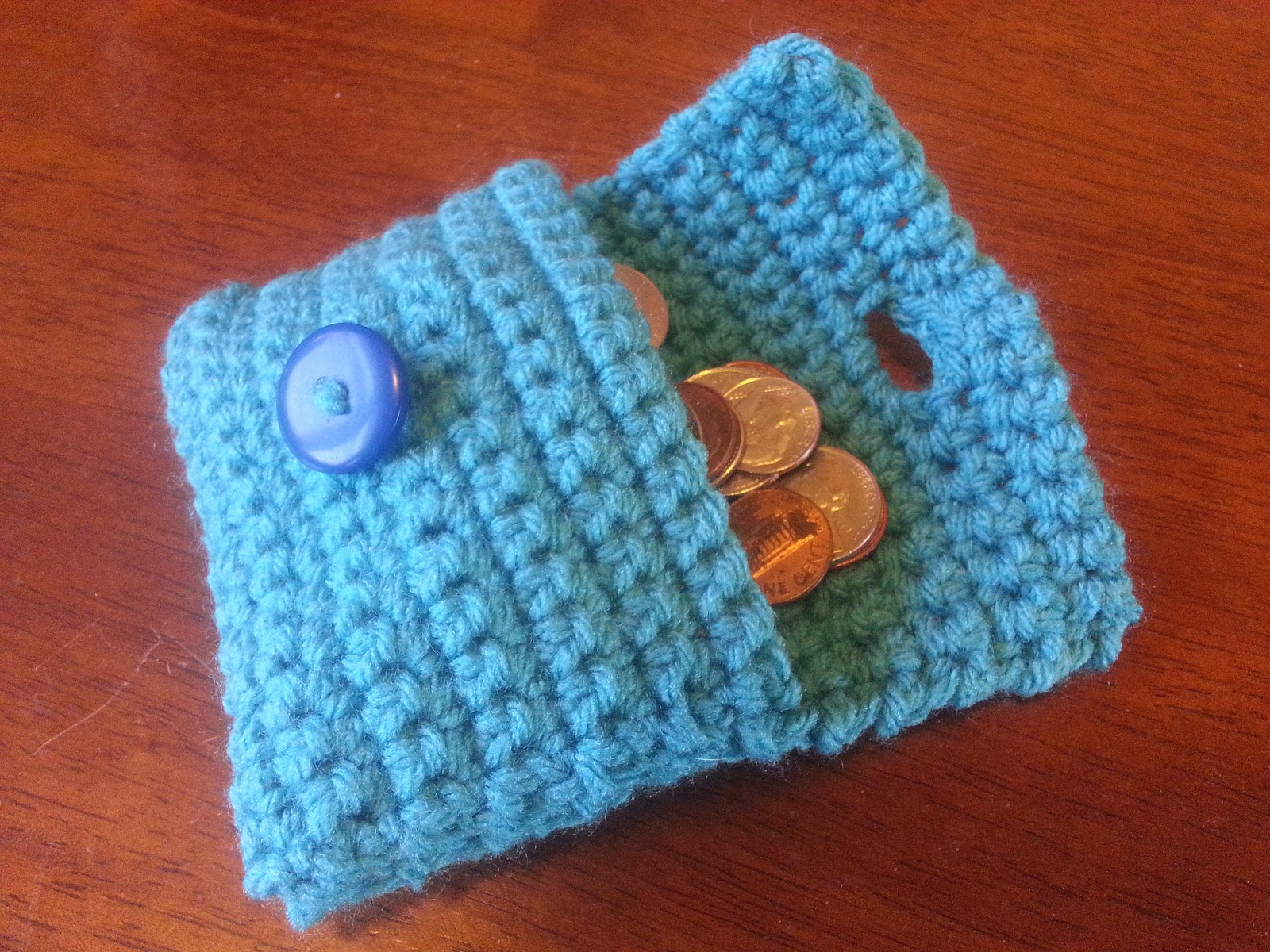 Coin Purse Crochet : Collection of Crochet Stitches: Pattern: Easy Coin Purse/Wallet