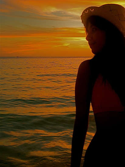 maxene magalona sunset silhouette photo 01