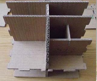 Cara membuat rak mini sederhana dari kardus bekas