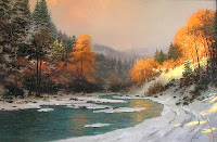 Thomas Kinkade Autumn Snow4