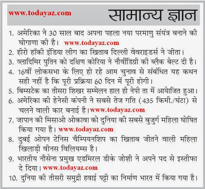 http://todayaz.com/current-gk-2014-hindi/2177