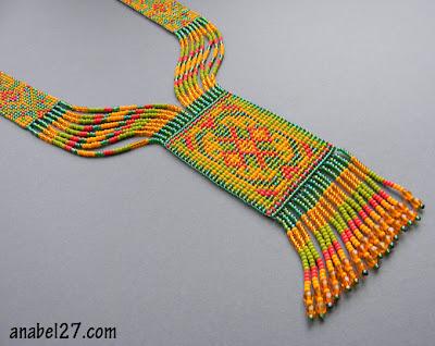 купить гердан гайтан из бисера ткачество на станке украшение этника