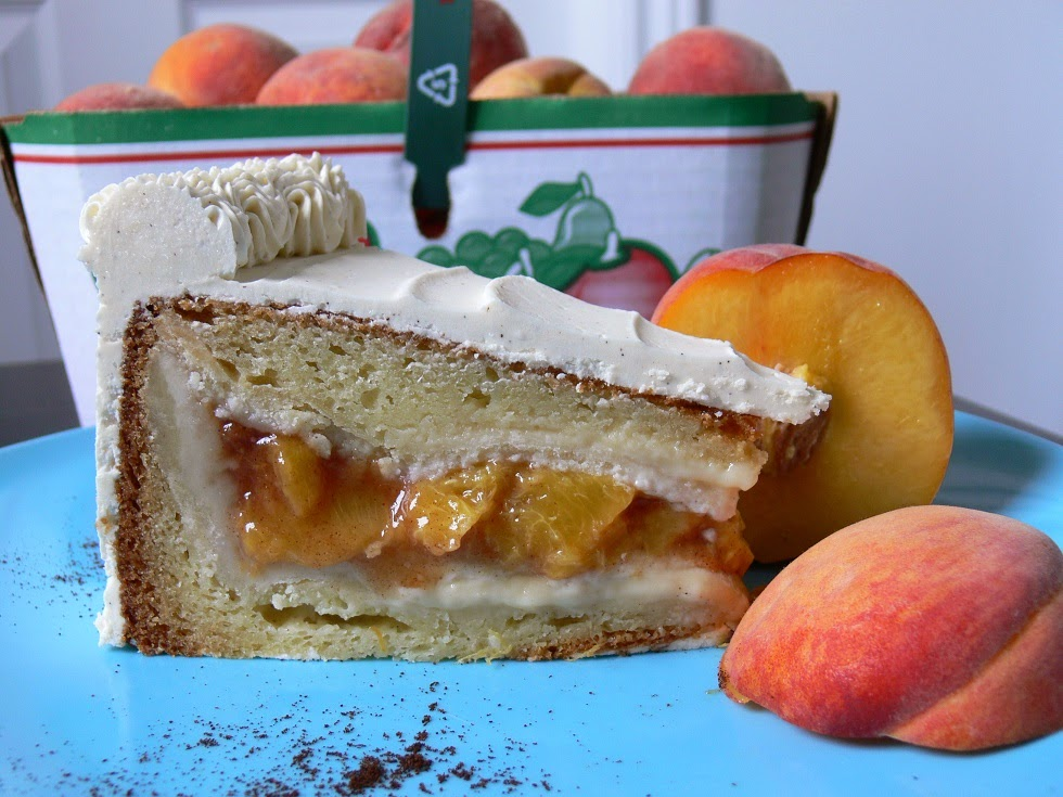 Peach and vanilla bean piecaken