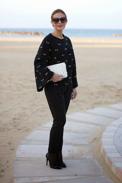 Kenzo eye print kimono sweatshirt, geisha style sweater, Fashion and Cookies, fashion blogger