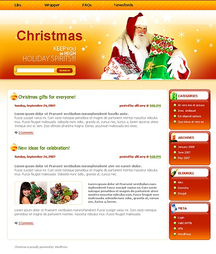Christmas WordPress Christmas Holiday