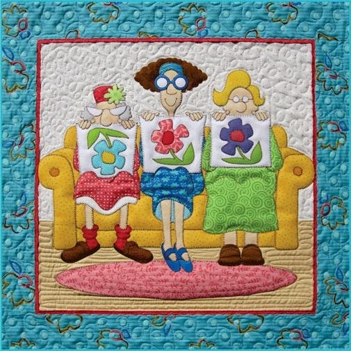Lo que hago en mi casa mural patchwork con patrones - Patrones casas patchwork ...