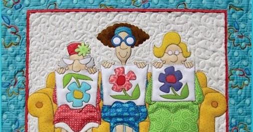 Lo que hago en mi casa mural patchwork con patrones - Patchwork en casa patrones ...