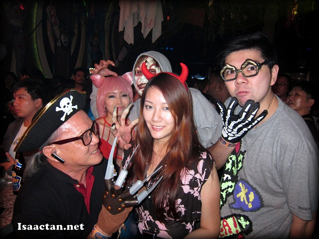 Bloggers and friends at the Tiger Halloween Party