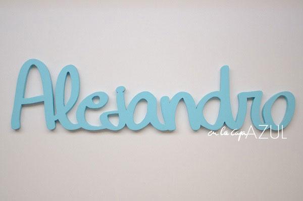 En la caja azul mis letras - Letras de madera decorativas ...