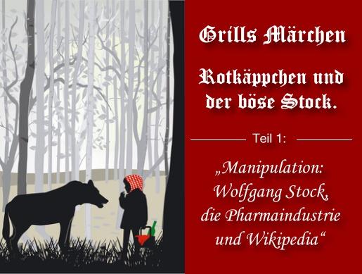 Markus Grill: Manipulation: Wolfgang Stock, die Pharmaindustrie und Wikipedia, DER SPIEGEL, SPIEGEL ONLINE
