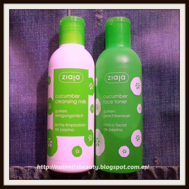 Ziaja - leche limpiadora y tónico facial de pepino