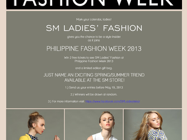 Win: SM Ladies' Fashion PFW passes