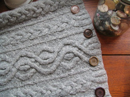 how to make knit pillow cover