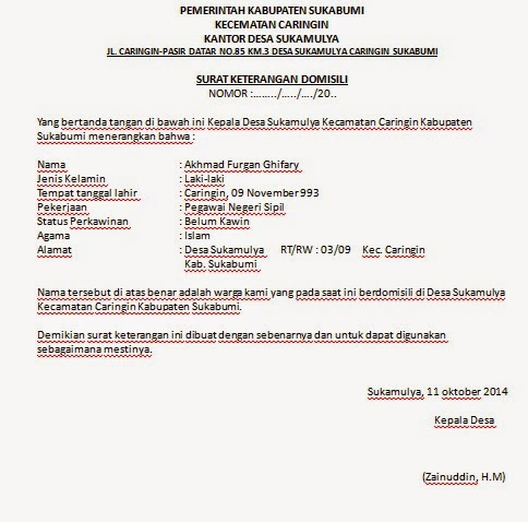 Pengertian Dan Contoh Surat Keterangan 2019 Oktober 2019