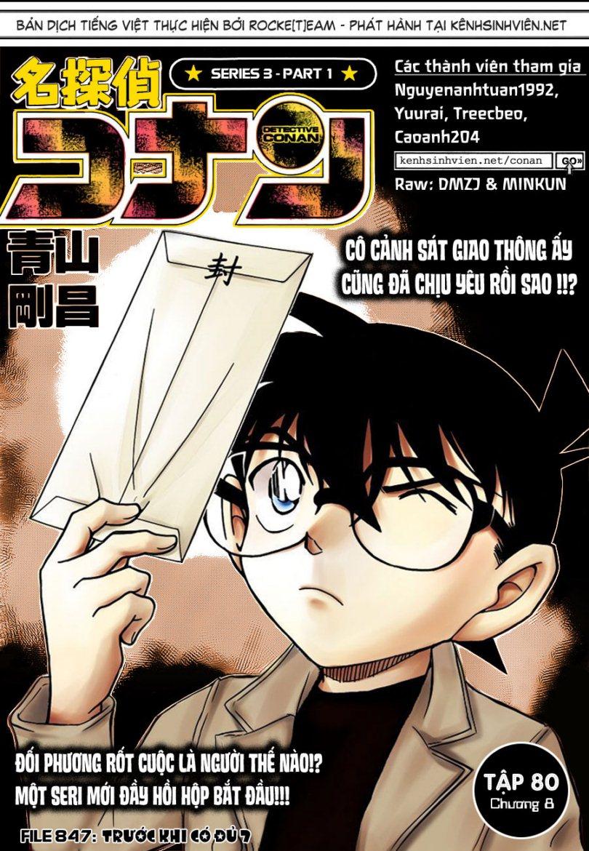 Thám Tử Lừng Danh Conan - Chapter 847 - Pic 1