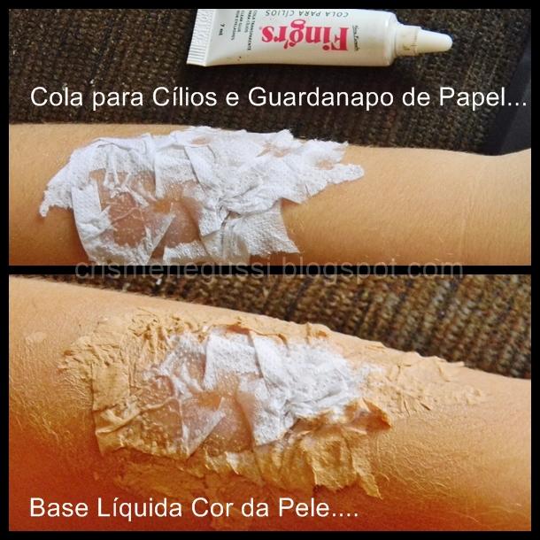 como fazer maquiagem de machucado