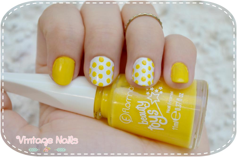nail art, manicura, manicure, vintage nails, flormar, rare nails, polka dots
