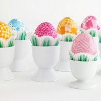 como decorar huevos con papel