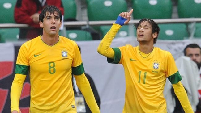 Kaká, Neymar y Brasil golearon a Japón